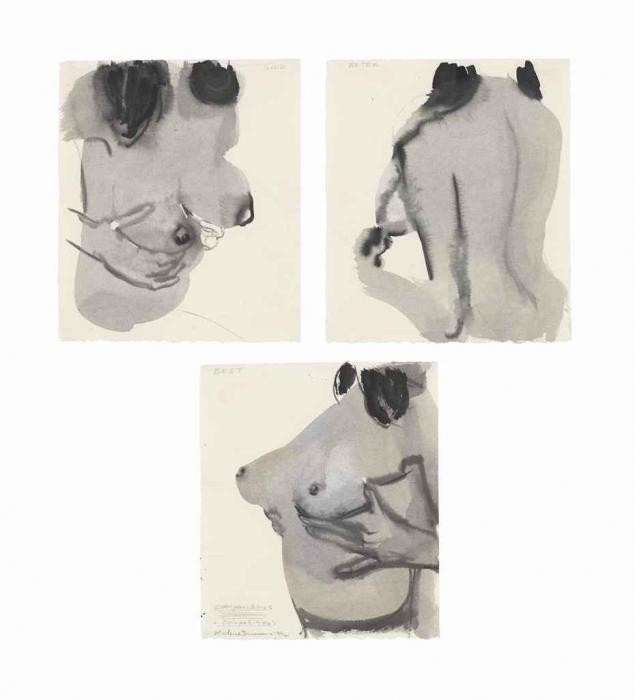 Marlene Dumas-(i) Good; (ii) Better; (iii) Best (Comparisons and Competitions) (Untitled)-1994
