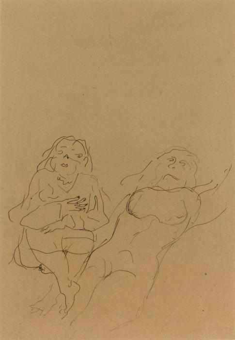 Lucio Fontana-Female figure study-1940