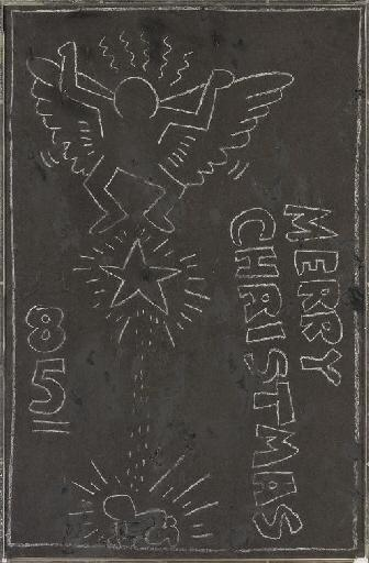 Keith Haring-Keith Haring - Merry Christmas-1985