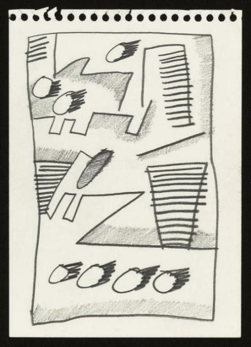 Keith Haring-Keith Haring - Untitled-1978