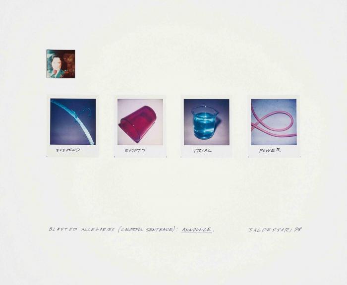 John Baldessari-Blasted Allegories (Colorful Sentence): Announce (H. 9)-1978