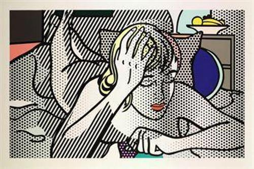 Roy Lichtenstein-Thinking Nude (from Nudes series)-1994