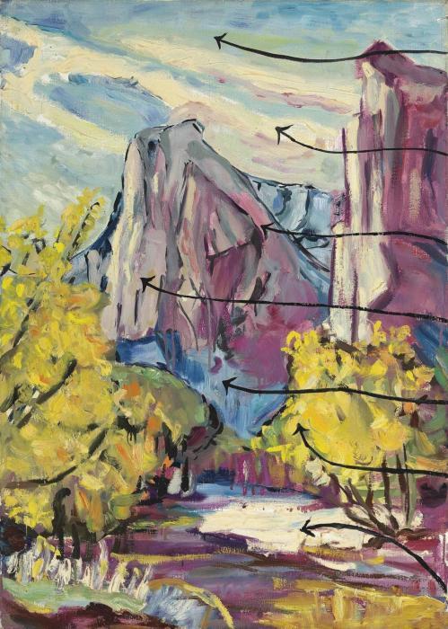 Anselm Kiefer-Gebirgslandschaft (Mountainscape)-1976