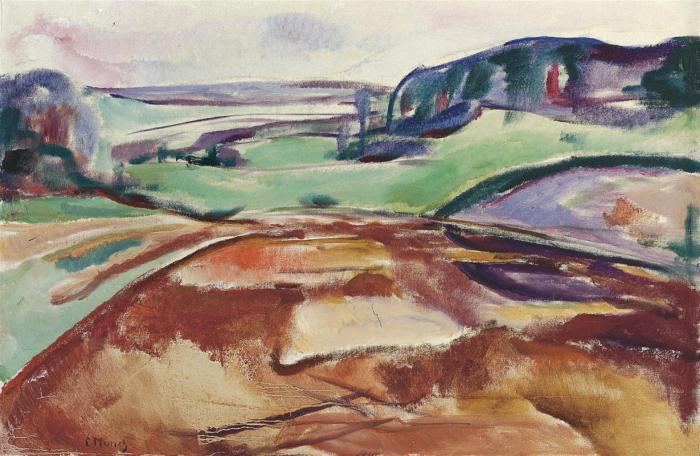 Edvard Munch-Fra Ekely (From Ekely)-1916
