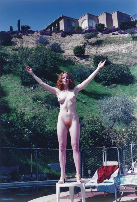 Helmut Newton-Domestic Nude IX, The Redhead, Los Angeles (1992)-1992