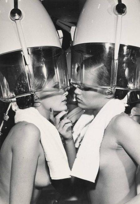 Helmut Newton-Patti Hansen & Winnie Hollman for Xavier Coiffures, New York-1976