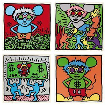Keith Haring-Keith Haring - Andy Mouse Series-1986