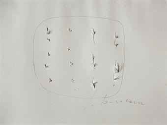 Lucio Fontana-Concetto spaziale-1966
