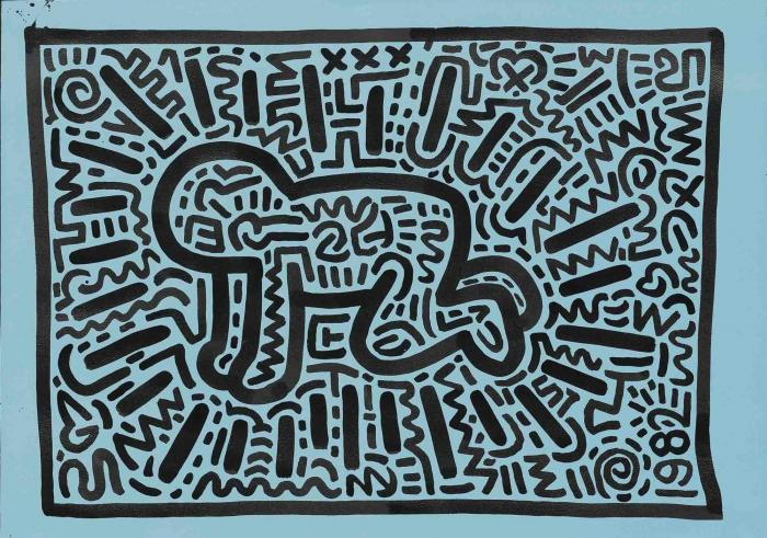 Keith Haring-Keith Haring - Radiant Child-1982