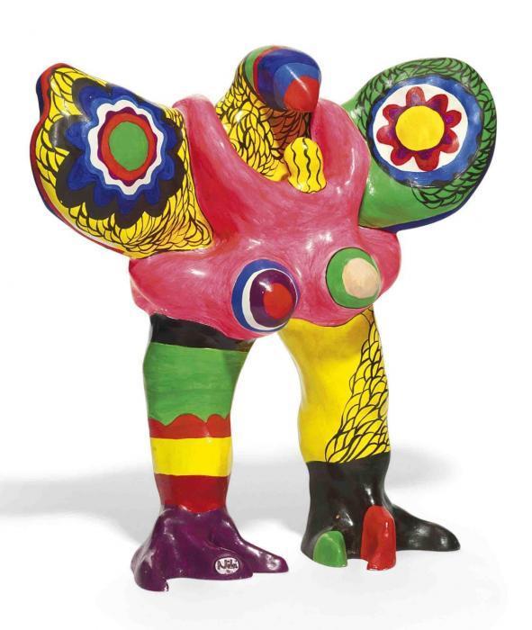 Niki de Saint Phalle-L'oiseau amoureux-1973
