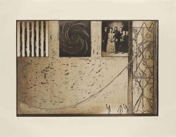 Jasper Johns-Untitled (Family Photo in Black)-2001