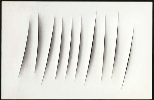 Lucio Fontana-Concetto spaziale Attese-1963