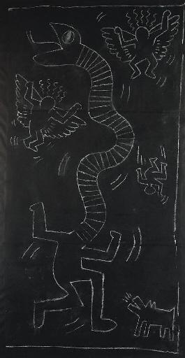 Keith Haring-Keith Haring - Subway Drawing-1984