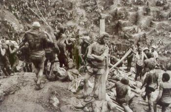 Sebastiao Salgado-Brasil (Serra Pelada Gold Mine) / Goldminers / La mine dor de Serra Pelada, Etat de Para, Bresil-1986