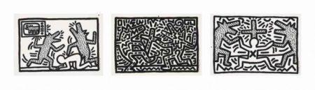 Keith Haring-Keith Haring - Untitled 1-6-1982