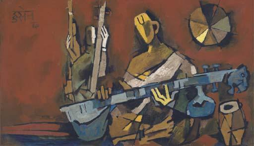 Maqbool Fida Husain-Orchestra-1960