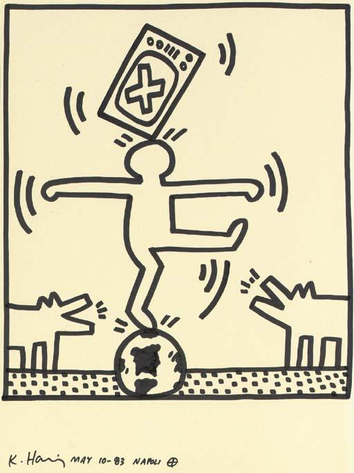 Keith Haring-Keith Haring - Untitled, from the Napoli Series-1983