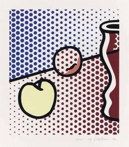 Roy Lichtenstein-Still Life with red Jar-1994
