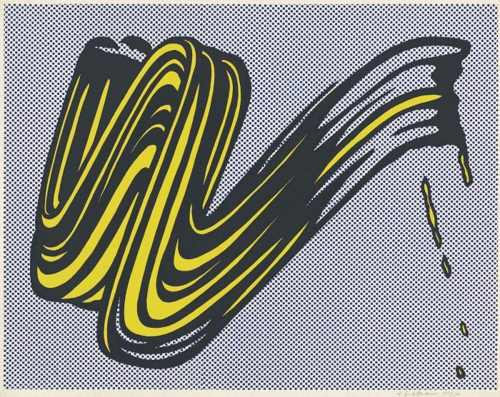Roy Lichtenstein-Brushstroke-1965