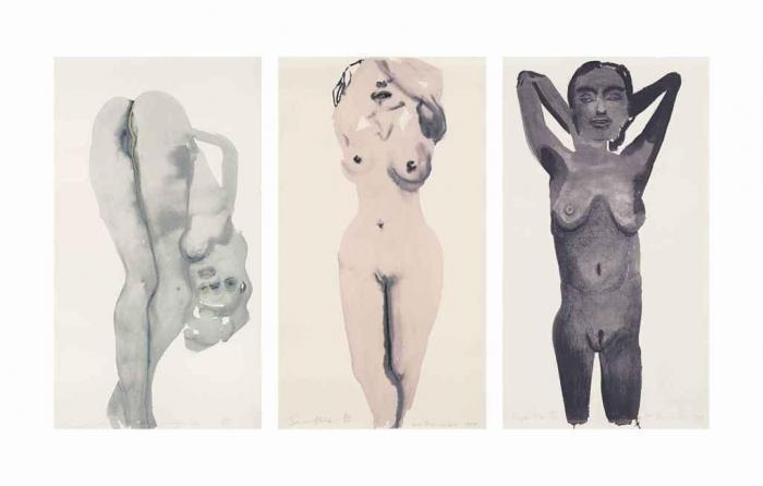 Marlene Dumas-(i) Purple Pose; (ii) Snowflake; (iii) Dorothy D-lite-1999