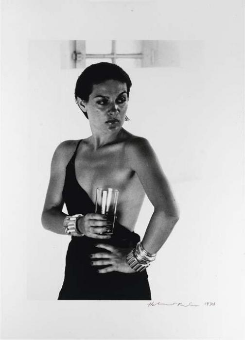Helmut Newton-Paloma Picasso wearing Dress by Karl Lagerfeld, Saint-Tropez-1973