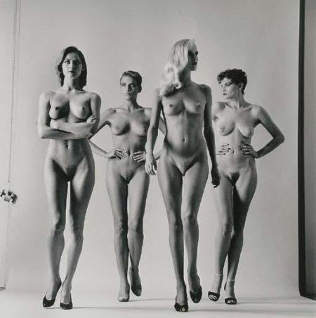 Helmut Newton-Sie Kommen (Naked), French Vogue, Paris-1981