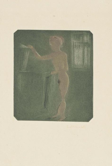 Edvard Munch-Nude Standing in an Interior (Sch 40; W 47)-1896