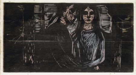 Edvard Munch-Young Couple in a Spruce Forest (Sch. 442; W. 540)-1915