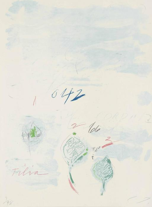 Cy Twombly-Tilia Cordata, from Natural History, Part II, Some Trees of Italy-1976