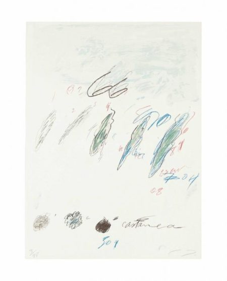 Cy Twombly-Castanea Sativa, from Natural History, Part II, Some Trees of italy-1976