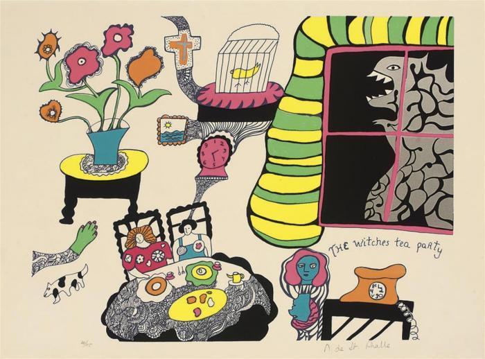 Niki de Saint Phalle-The Witches Tea Party-