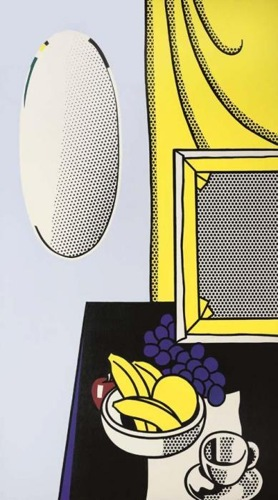 Roy Lichtenstein-Still Life with Strechter, Mirror, Bowl of Fruit-1972