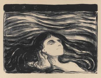 Edvard Munch-Elskende Par i Bolger / Das Liebespaar / Meer der Liebe / On the Waves of Love / Pa kjaerlighetens bolger (Sch. 71; W. 81)-1896
