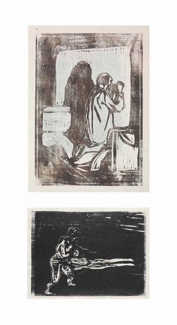 Edvard Munch-Gammel Mann i Bonn / Old Man Praying / Gebet des Alten Mannes (Sch. 173; W. 205)-1897