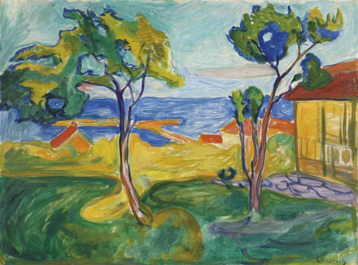 Edvard Munch-Hagen i Asgardstrand / From Asgardstrand-1905