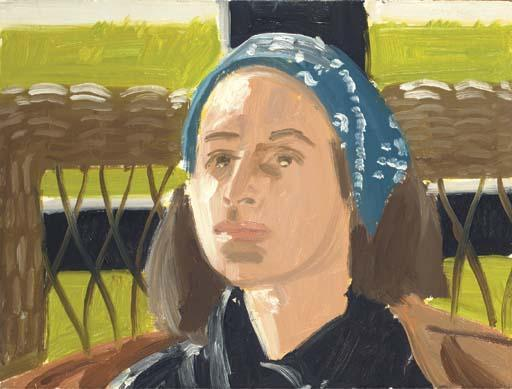 Alex Katz-Blue Scarf-1995