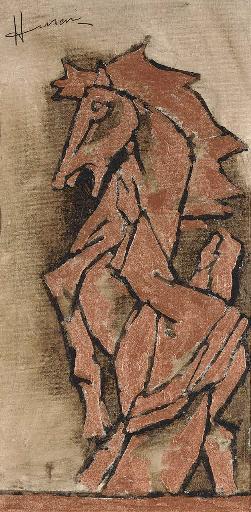Maqbool Fida Husain-Untitled-Horse-