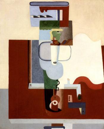 Le Corbusier-Table, bouteille et livre-1926