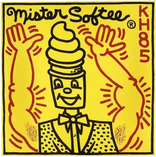 Keith Haring-Keith Haring - Untitled, Mister Softee-1985