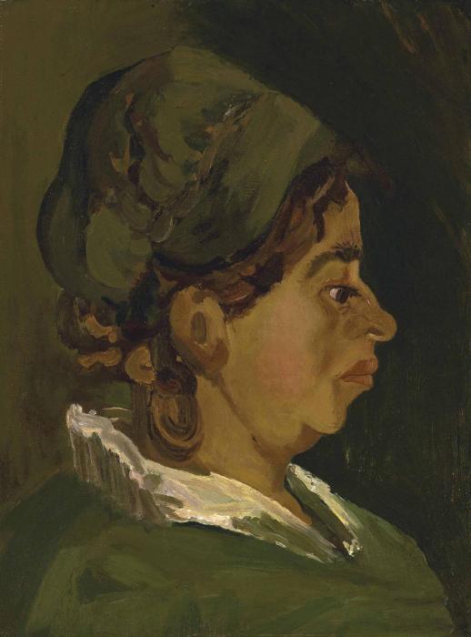 Vincent van Gogh-Head of a Peasant Woman: Right Profile-1884