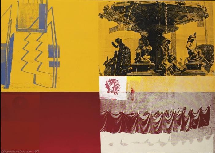 Robert Rauschenberg-Robert Rauschenberg - Navaja Plaza (Galvanic Suite)-1988