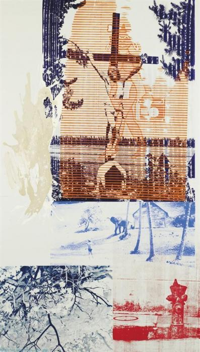 Robert Rauschenberg-Robert Rauschenberg - Holy Lattice (Urban Bourbon)-1988