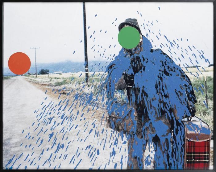 John Baldessari-Hitch-Hiker (Splattered Blue)-1999