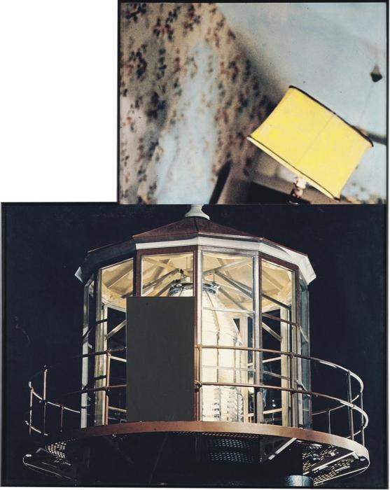 John Baldessari-Two Beacons (One Askew)-1991