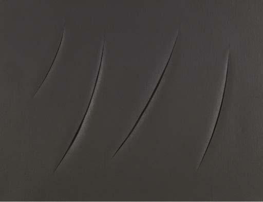 Lucio Fontana-Concetto spaziale Attese 1+1-333H-1961