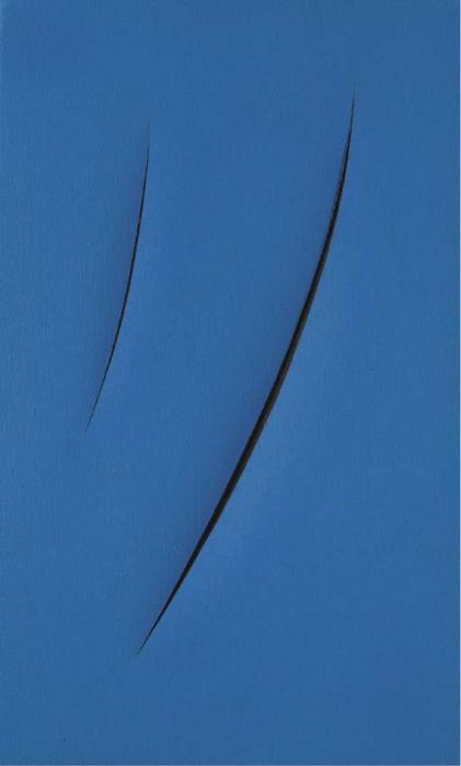 Lucio Fontana-Concetto spaziale Attese 1-1-OIY-1961