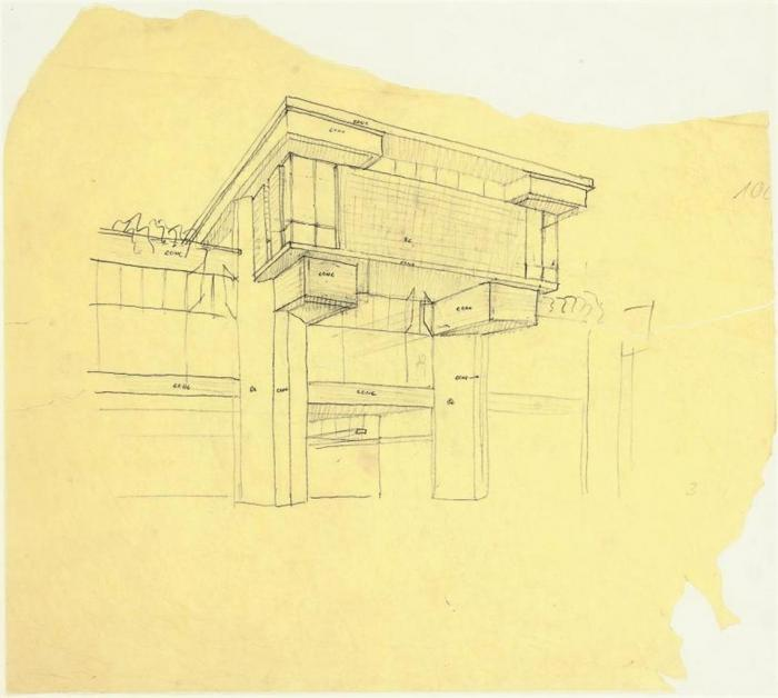Le Corbusier-Casa hatje (Project for Italy)-