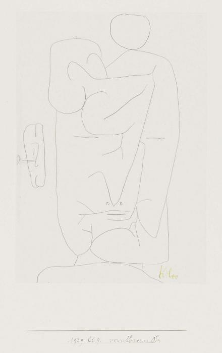 Paul Klee-Verschlossenes Ohr-1939