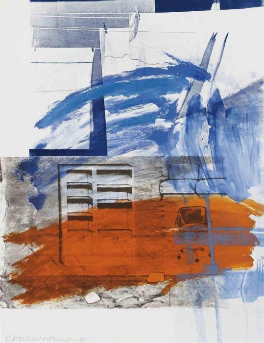 Robert Rauschenberg-Robert Rauschenberg - House Splash-1990