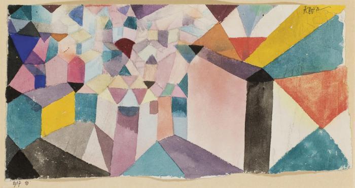 Paul Klee-Einblick In Eine Stadt-1917